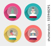 icon set of christmas snowball  ... | Shutterstock .eps vector #535948291