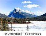 cascade mountain and vermilion... | Shutterstock . vector #535954891