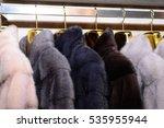 luxury mink coats. pink  grey ... | Shutterstock . vector #535955944