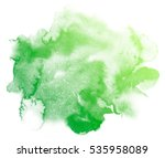 abstract green watercolor on... | Shutterstock . vector #535958089