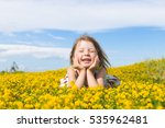 Smiling Girl With Blond Hair...