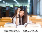 portrait of a beautiful student ... | Shutterstock . vector #535964665