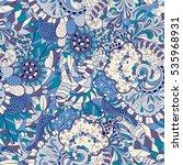 tracery seamless calming... | Shutterstock .eps vector #535968931