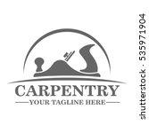 carpentry logo template design | Shutterstock .eps vector #535971904