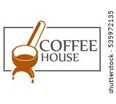 cofe house logo template design   Shutterstock .eps vector #535972135