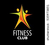 vector logo for fitness | Shutterstock .eps vector #535973851