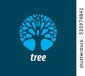vector logo tree | Shutterstock .eps vector #535974841