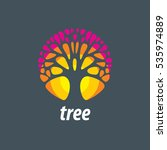 vector logo tree | Shutterstock .eps vector #535974889