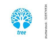 vector logo tree | Shutterstock .eps vector #535974934