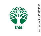 vector logo tree | Shutterstock .eps vector #535974961