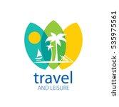 vector logo travel | Shutterstock .eps vector #535975561