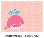 sweet whale doodle | Shutterstock .eps vector #53597782