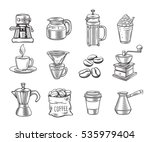hand drawn decorative coffee...   Shutterstock .eps vector #535979404