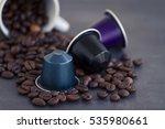 italian espresso coffee... | Shutterstock . vector #535980661