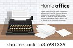 copywriting.retro typewriter... | Shutterstock .eps vector #535981339