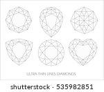 elegant ultra thin line... | Shutterstock . vector #535982851