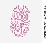 red touch fingerprint id app... | Shutterstock . vector #535983157