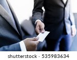 business executive exchanging... | Shutterstock . vector #535983634