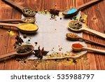set of various aromatic... | Shutterstock . vector #535988797