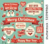 retro flat design vintage... | Shutterstock .eps vector #535989865