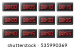 Timer In Digital Clock Icons...
