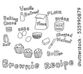 set of ingredients for baking... | Shutterstock .eps vector #535990879