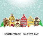 icons set of 6 european houses. ...   Shutterstock . vector #535995169