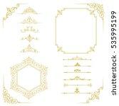 set of vintage elements. frames ... | Shutterstock . vector #535995199