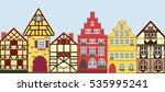 icons set of 6 european houses. ...   Shutterstock . vector #535995241