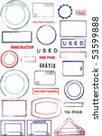 blank editable passport stamps... | Shutterstock . vector #53599888