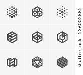 modern abstract vector logo or... | Shutterstock .eps vector #536002885