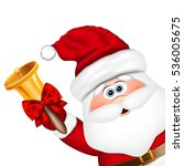 santa claus with gold christmas ... | Shutterstock . vector #536005675