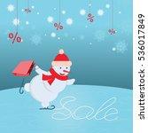 vector illustration of snowman...   Shutterstock .eps vector #536017849
