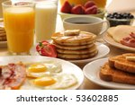 breakfast foods | Shutterstock . vector #53602885