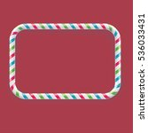frame made of candy cane ... | Shutterstock .eps vector #536033431