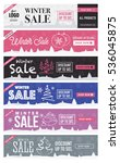 winter sale horizontal... | Shutterstock .eps vector #536045875