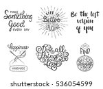 set of vector inspirational and ... | Shutterstock .eps vector #536054599