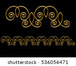 golden  ornamental segment  ... | Shutterstock . vector #536056471