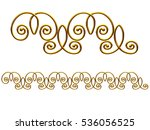 golden  ornamental segment  ... | Shutterstock . vector #536056525