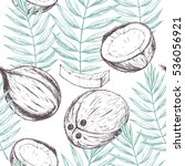 vector seamless tropical... | Shutterstock .eps vector #536056921