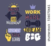 set of text templates for... | Shutterstock .eps vector #536070661
