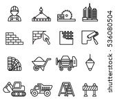 construction icons set. line... | Shutterstock .eps vector #536080504