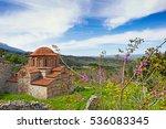 Small photo of The church of Agioi Theodoroi (1290 A.D.) in Mystras, Greece