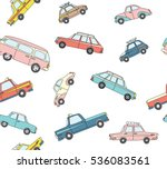 seamless pattern with cute... | Shutterstock .eps vector #536083561