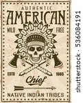 american indian tribe vintage...   Shutterstock .eps vector #536084191
