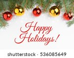 background made of christmas... | Shutterstock . vector #536085649