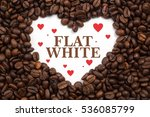 background made of coffee beans ... | Shutterstock . vector #536085799