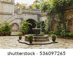 Small photo of Colonial courtyard interior in philippines manila