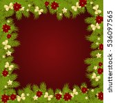 christmas background with fir...   Shutterstock . vector #536097565