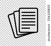 stack of paper icon. black icon ... | Shutterstock .eps vector #536100835